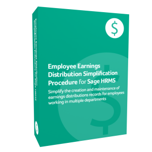 Employee Earnings Distribution Simplification Procedure for Sage HRMS