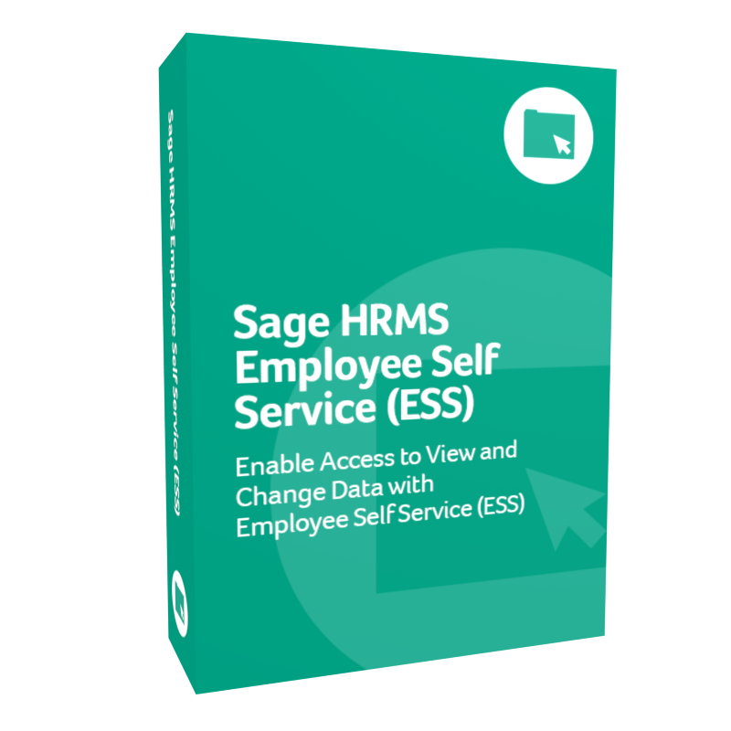 Sage H R M S Employee Self Service (E S S) product box