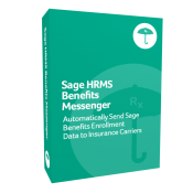 Sage HRMS Benefits Messenger product box