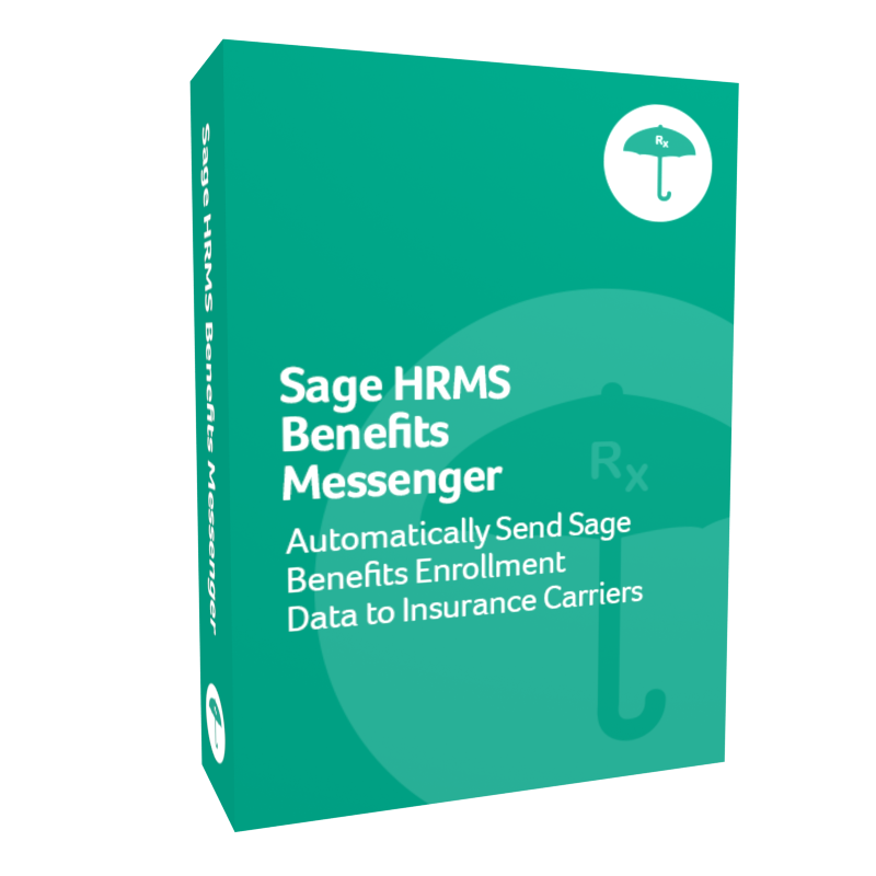 Sage H R M S Benefits Messenger product box