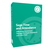 Sage Time and Attendance software product box