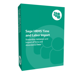 prodcut box for Sage H R M S Time & Labor Import