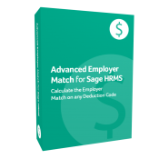 product box for Advanced Employer Match for Sage H R M S
