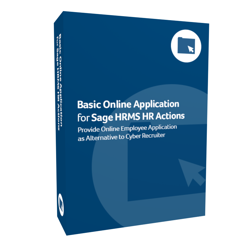 product box for Basic Online Application for Sage H R M S H R Actions