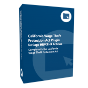product box for California Wage Theft Protection Act Plugin for Sage H R M S H R Actions