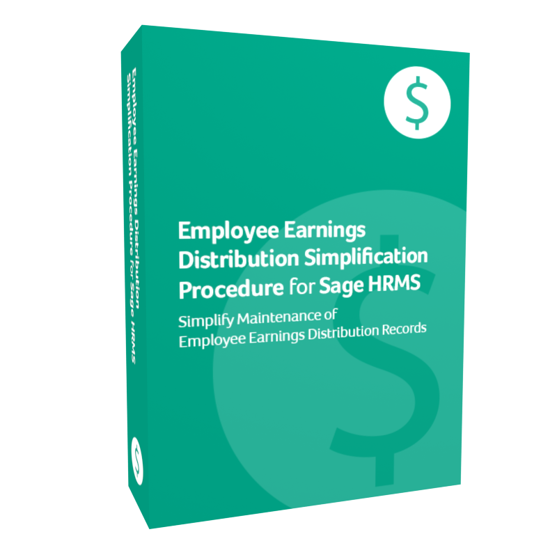 product box for Employee Earnings Distribution Simplification Procedure for Sage H R M S