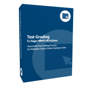 Test Grading for Sage H R M S H R Actions product box