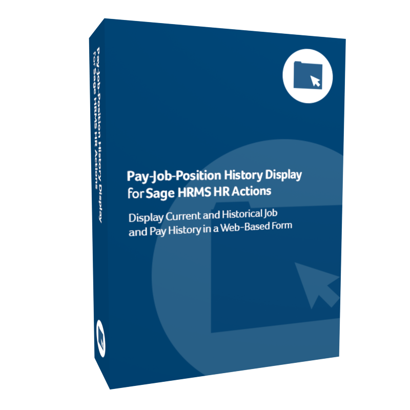 Pay-Job-Position History Display for Sage H R M S H R Actions product box