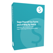 Sage Payroll Tax Forms and eFiling by Aatrix product box