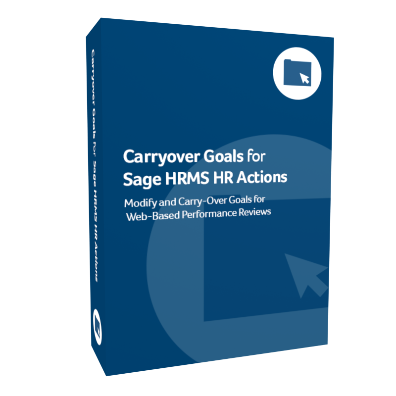 Carryover Goals for Sage H R M S H R Actions product box