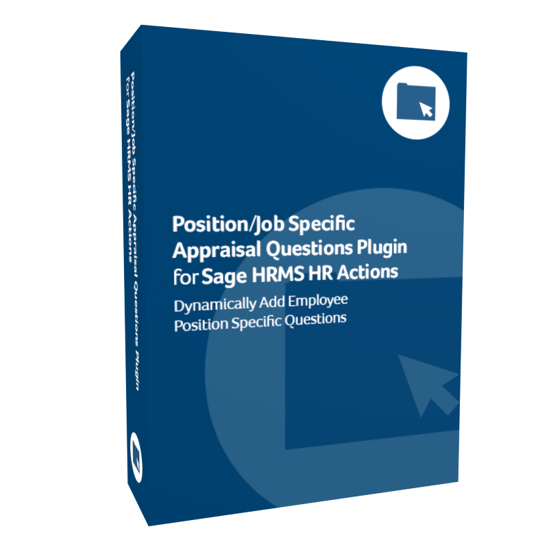 Position/Job Specific Appraisal Questions Plugin for Sage H R M S H R Actions product box