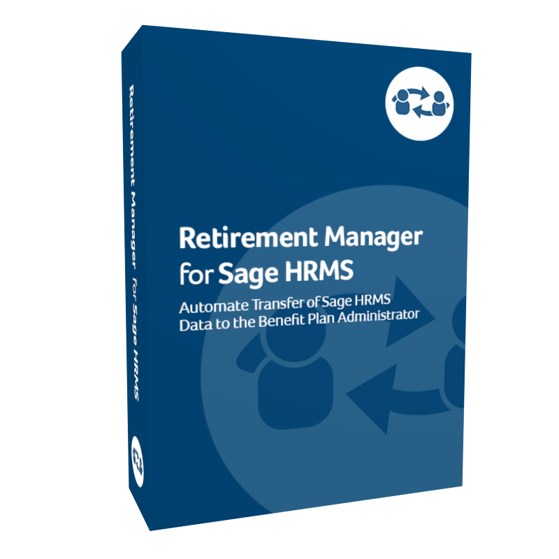 Retirement Manager for Sage H R M S product box