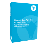 Upgrade Sage Abra Suite to Sage H R M S product box