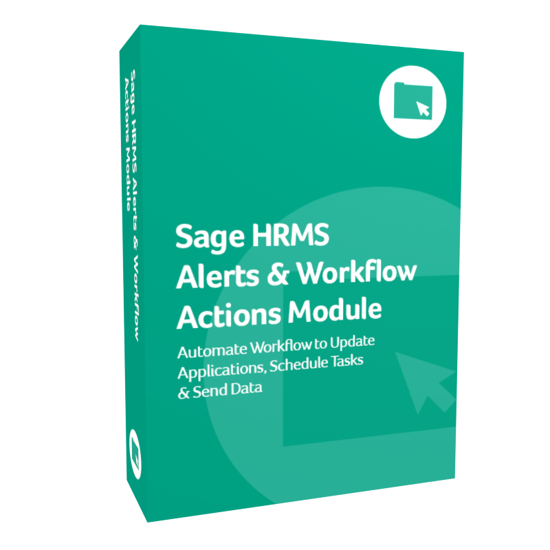Sage HRMS Alerts & Workflow Actions Module
