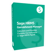 product box for Sage H R M S Garnishment Manager