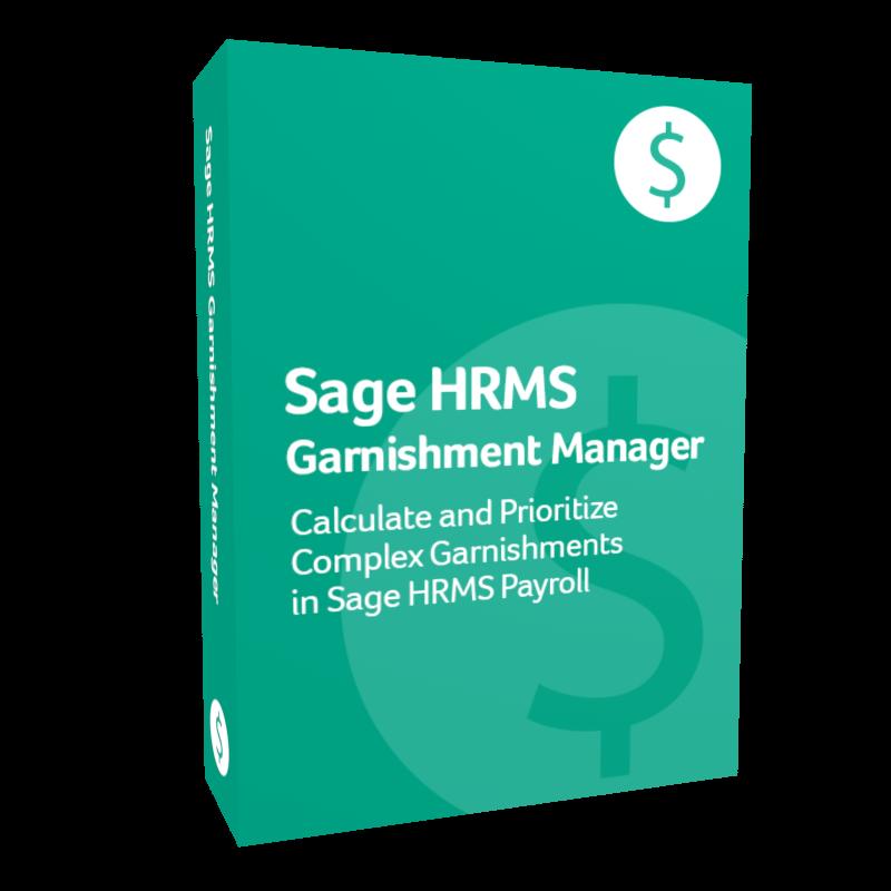 Sage HRMS Garnishment Manager