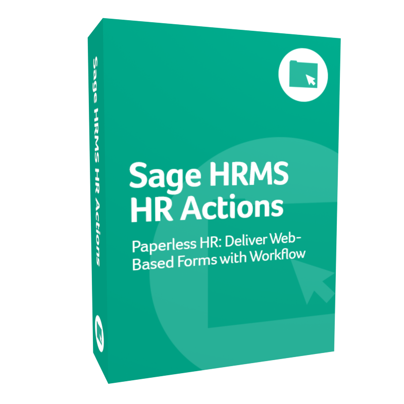 product box for Sage H R M S H R Actions