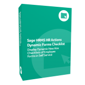 product box for Sage H R M S H R Actions Dynamic Forms Checklist.
