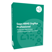 product box for Sage H R M S OrgPlus Professional