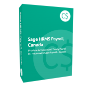 product box for Sage H R M S Payroll, Canada