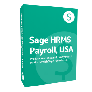 product box for Sage H R MS Payroll, U S A