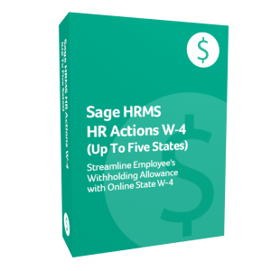 Sage HRMS HR Actions W-4 additional state