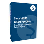 product box for Sage H R M S Xport PayChex