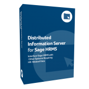 product box for Distributed Information Server for Sage HRMS