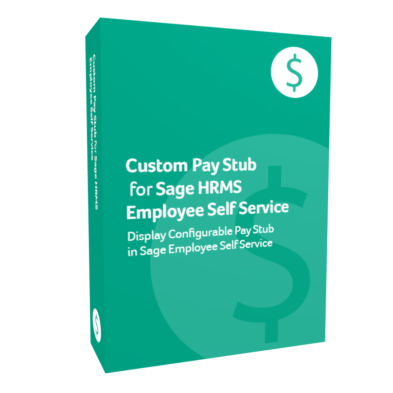 Custom Pay Stub for Sage HRMS Employee Self Service