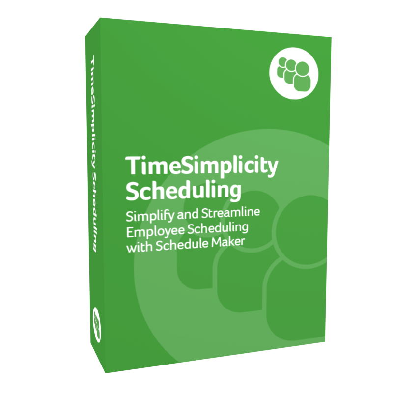 TimeSimplicity Scheduling product box