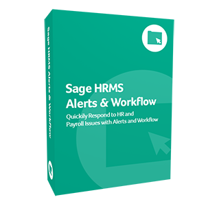 product box for Sage HRMS Alerts & Workflow software.
