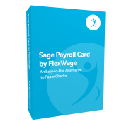 Sage PayrollCard by FlexWage product box