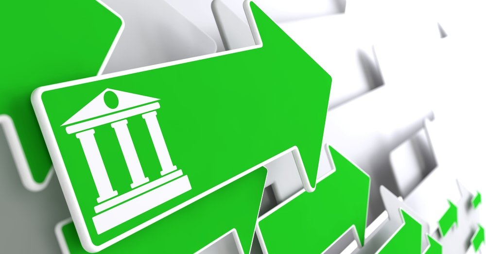 Direct Deposit icon with green arrows pointing to right. One arrow has a white icon of a bank