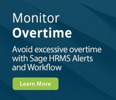Sage HRMS Alerts and Workflow