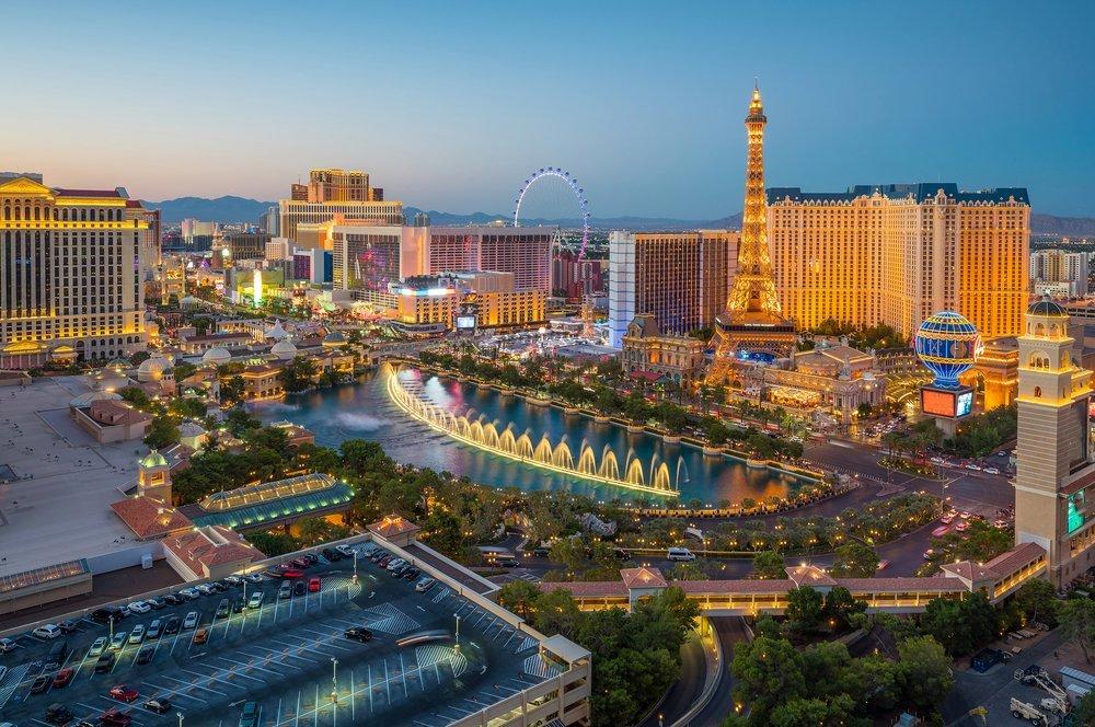 Night view of Las Vegas, Nevada