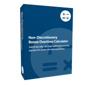 Non-Discretionary Bonus Overtime Calculator