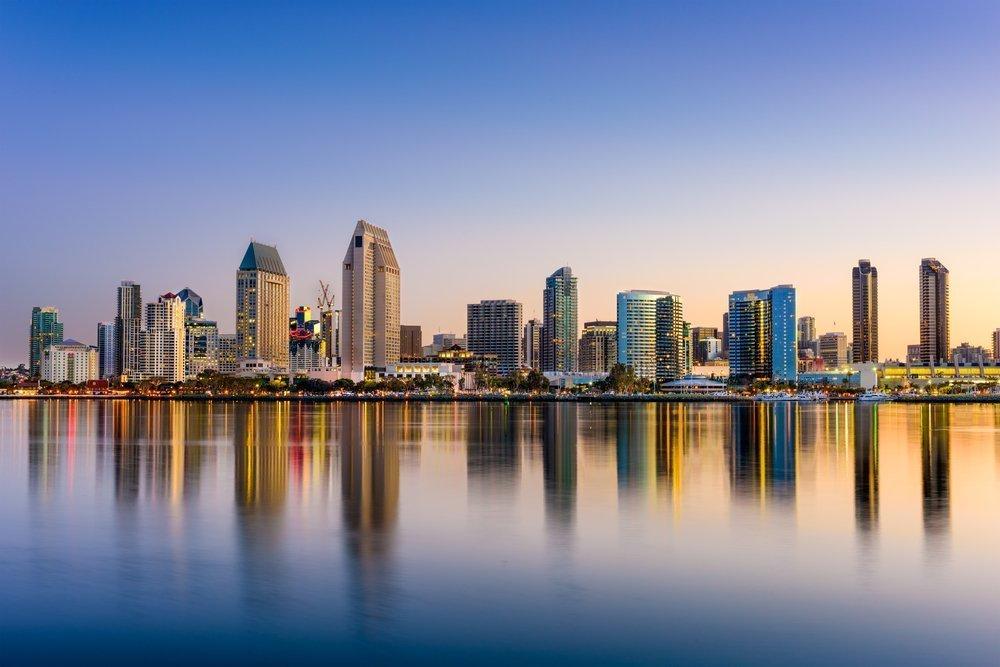 Daytime photo of San Diego skyline