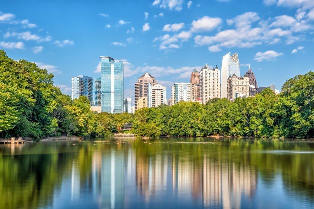 Atlanta, Georgia skyline on a bright summer day